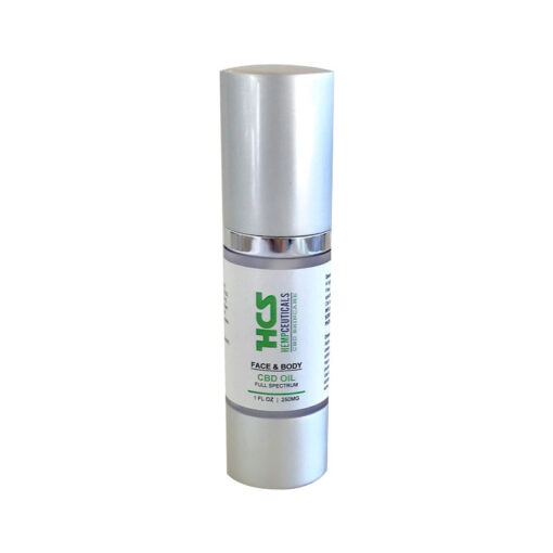 Face Body CBD oil container